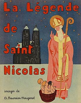 """As the story of St. Nicholas spread, French nuns in the 12th Century began making annual night-time visits to poor families with children, leaving fruit and nuts, which these families could not afford.    The nuns made their gift-giving rounds on what became known as, """"St. Nicholas Eve,"""" December 5th. The tradition spread throughout the Old World and across the ocean to the New. Many people to this day celebrate Christmas on December 6th."""