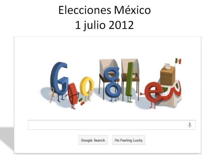 Burbujas Web - Noticias internacionales: Doodle de Elecciones México 2012 de Google