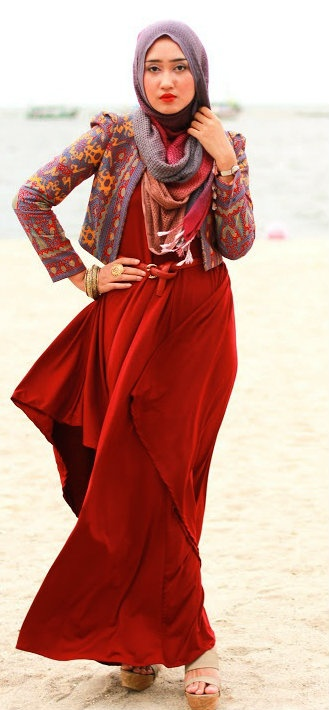 Like the Red Etnic Bolero.. Awesome Dian ^^