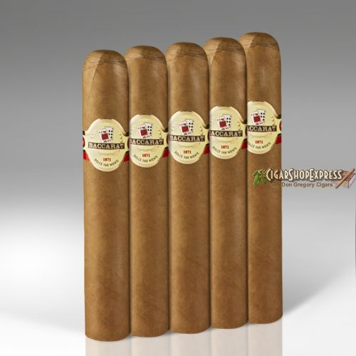 New Online Cigar Deal: Baccarat Cigar 5-Packs Gordo  6 x 60 – $23.85 added to our Online Cigar Shop https://cigarshopexpress.com/online-cigar-shop/cigars/cigar-5-packs/baccarat-cigar-5-packs-gordo-6-x-60/ A 60 ring gauge beast, this Baccarat Gordo is outstanding. Mild and creamy with a terrific sweetness off the cap, this is one savory smoke. It is constructed perfectly, having an ...