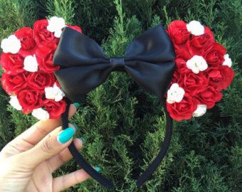 Floral Disney inspired mouse ears Mickey ears by CreationsbyNatty