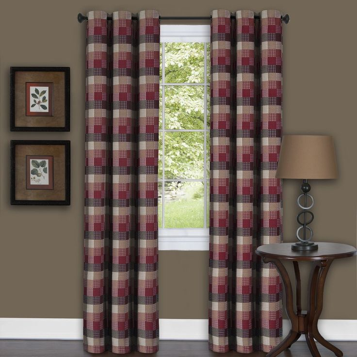achim harvard burgundy curtain panel