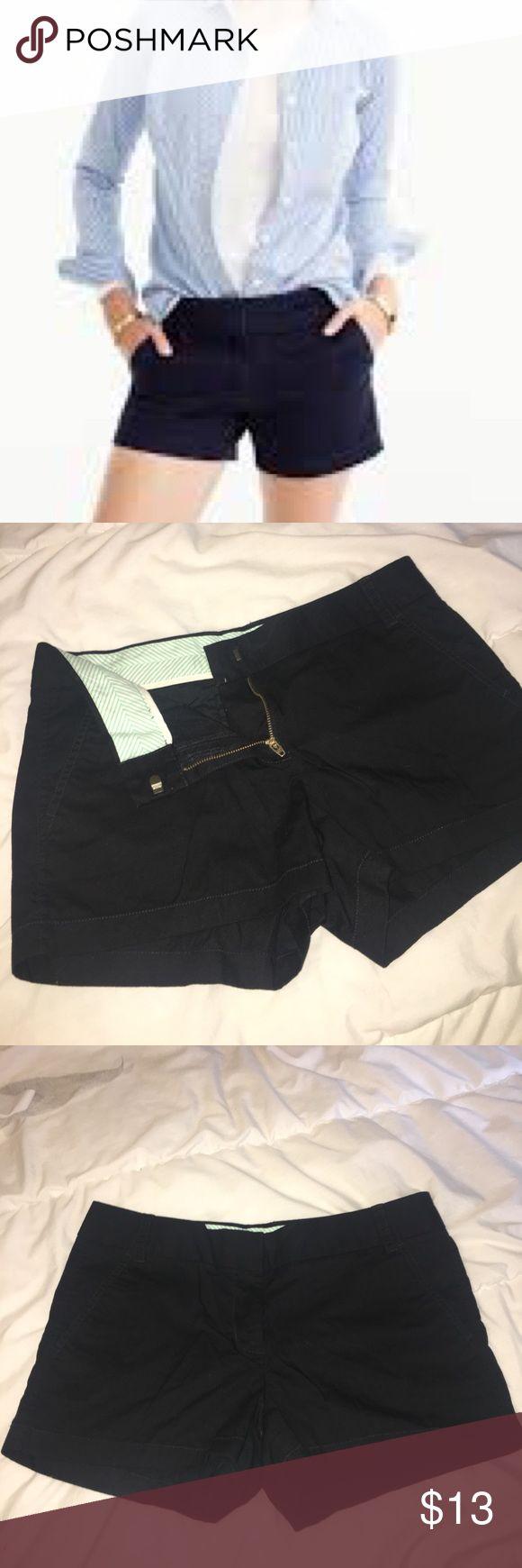 J. Crew Black Broken-in Chino Shorts J. Crew Black Broken-in Chino Shorts - like new J. Crew Shorts