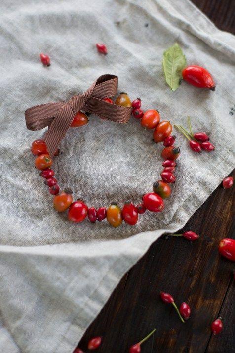 Herbst diy hagebutten deko ring 5 diy pinterest for Pinterest diy deko