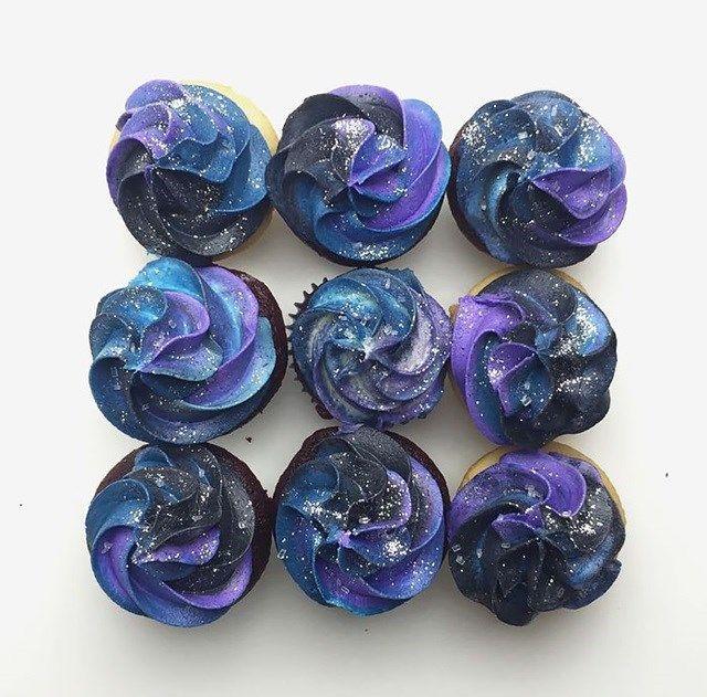 Cupcakes inspirados na galáxia! | 9 doces surpreendentes inspirados no Universo