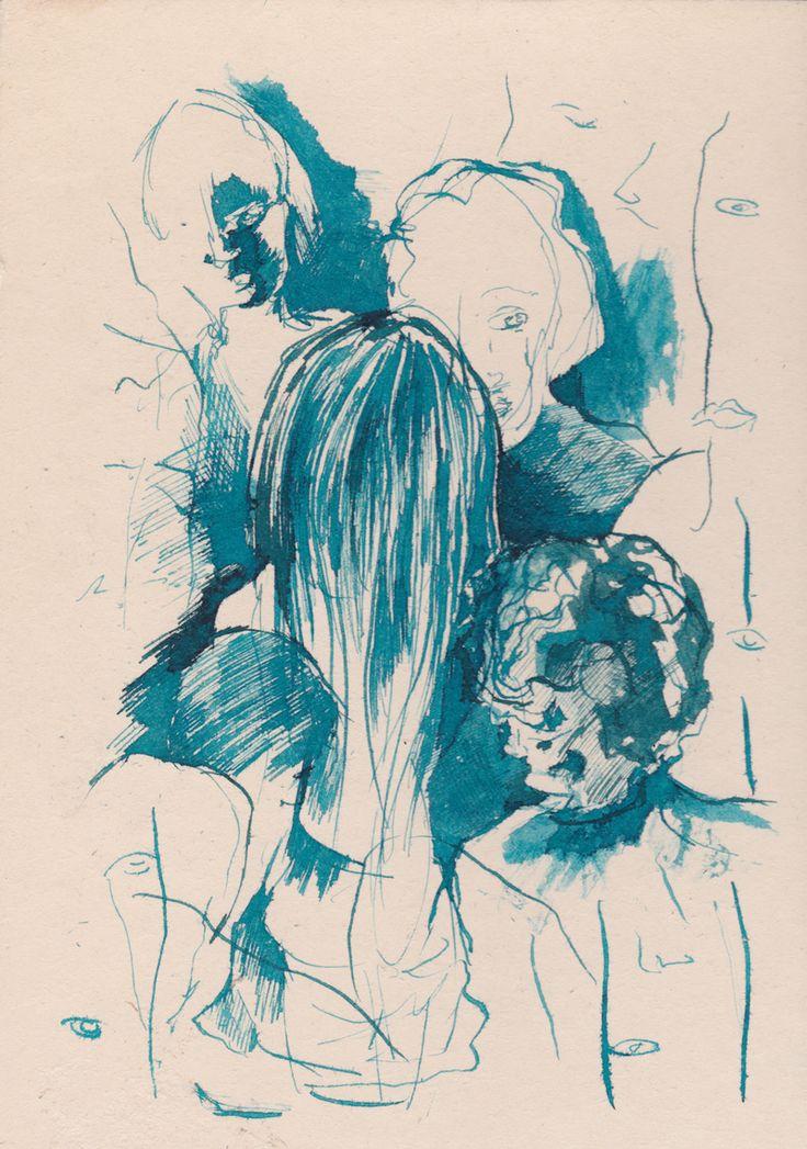 vita da bar /ecoline a pennino su cartoncino vegetale; giugno 2015 #ecoline #ink #disegno #draw