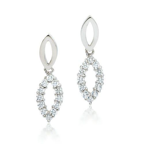 Breeze Drop Earrings with Cubic Zirconia