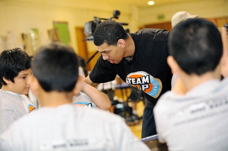 Danny Green competed with Team Up Challenge students in games about recycling: Video: Challenge Students, Green Competed, Danny Green