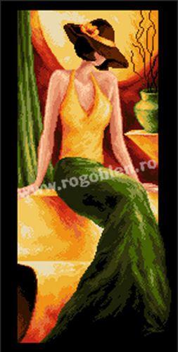 Cod produs 1.54 Domnisoara in verde Culori: 22 Dimensiune: 15 x 30cm Pret: 75.14 lei