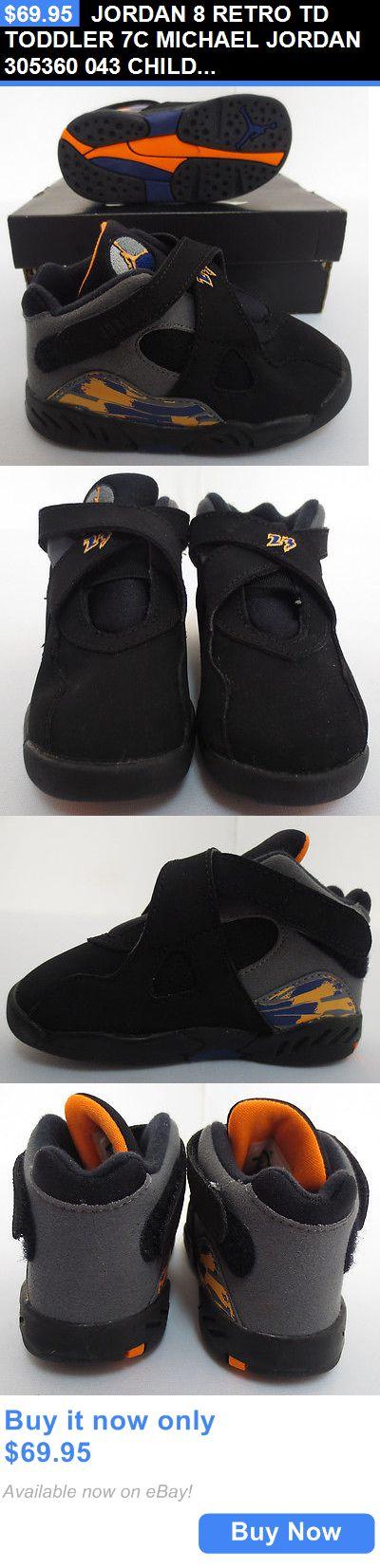 Michael Jordan Baby Clothing: Jordan 8 Retro Td Toddler 7C Michael Jordan 305360 043 Child Shoes Phnx Suns New BUY IT NOW ONLY: $69.95