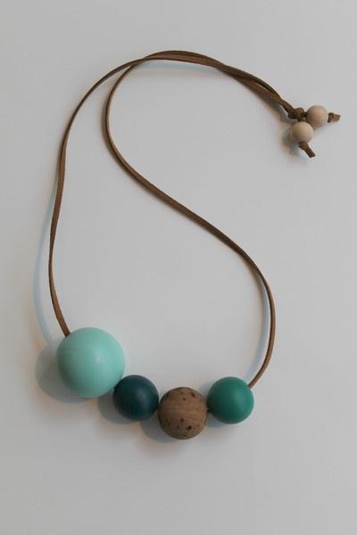 OhDeer — KUGLE halskæde (blå/turkis)