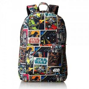 Fantastic Star Wars Comic Backpack - Full of awesome characters and colors! http://starwarsbackpack.com/star-wars-comic-backpack