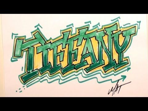 Graffiti Writing Tiffany Name Design - #7 in 50 Names Promotion - YouTube