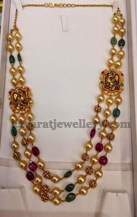 42 Grams Gold Gundla Mala | Jewellery Designs