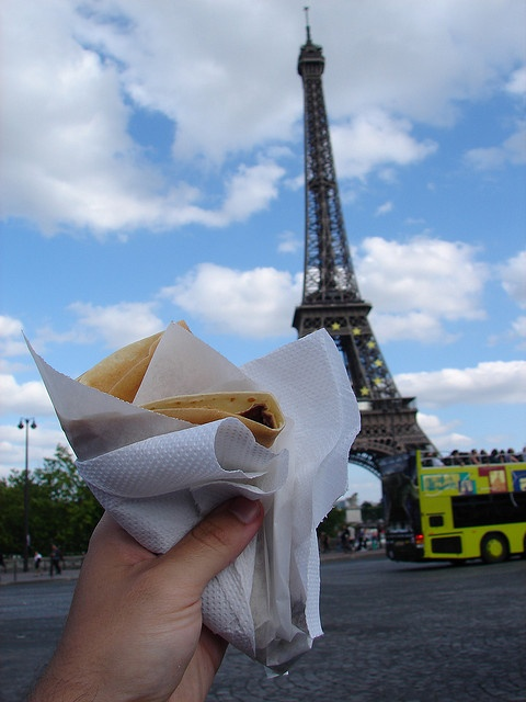 A must-try treat in #Paris - Nutella  Banana Crepe