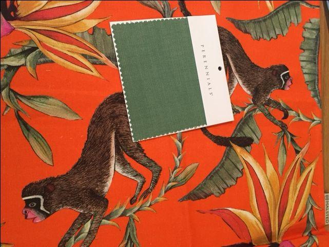 Ardmore Design Monkey Paradise Flame fabric