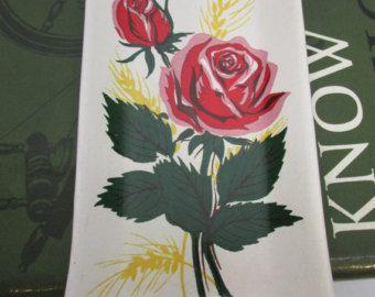 Vintage Rose Flower Painted Birthday Greetings Trinket Dish - Signed Commodore Japan