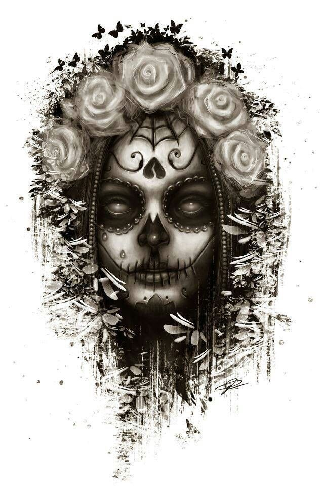 Zombie day of the dead | tattoo | Pinterest