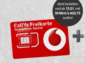 Vodafone: Prepaid-Tarif mit 50 MBit/s und interner Flat für 9,99 Euro im Monat http://www.discountfan.de/artikel/tablets_und_handys/vodafone-callya-lte-50-mbit.php Vodafone hat eine attraktive Prepaid-Aktion gestartet: Für 9,99 Euro im Monat erhält man eine netzinterne Flat (SMS und Gespräche), 200 Minuten / SMS in alle Netze sowie 750 MByte pro Monat Datenvolumen. Das Besondere dabei: Unterstützt wird LTE mit bis zu 50 MBit/s. Vodafone: Prepaid-Tarif mit 5... #Datenf