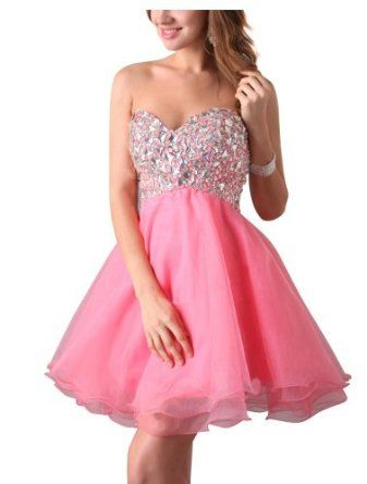 Women Sweet Shining Bead Sequins Mini Short Cocktail Prom Dress Party Gown Evening Dress,