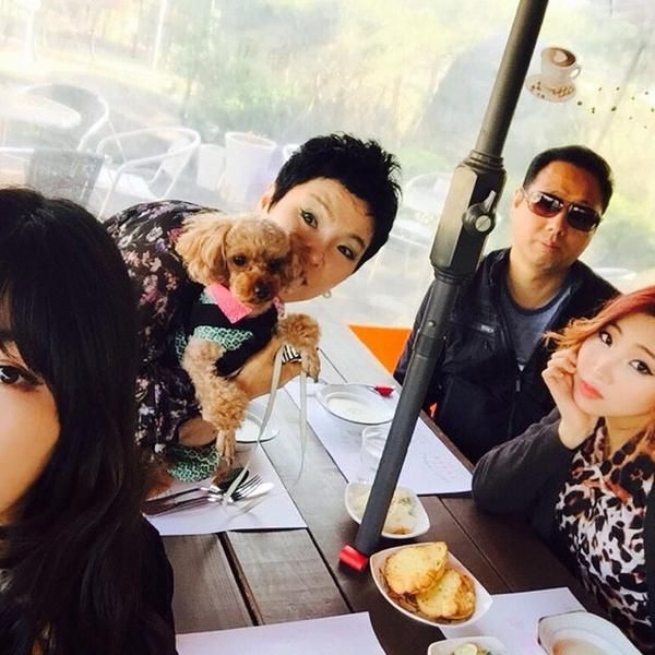 "Minzy's Father's IG Update. ""gong family dougie birthday"""