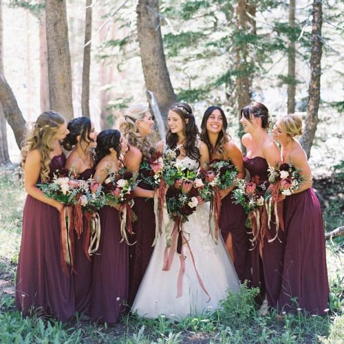 bridal party inspirations. love this color scheme for dresses
