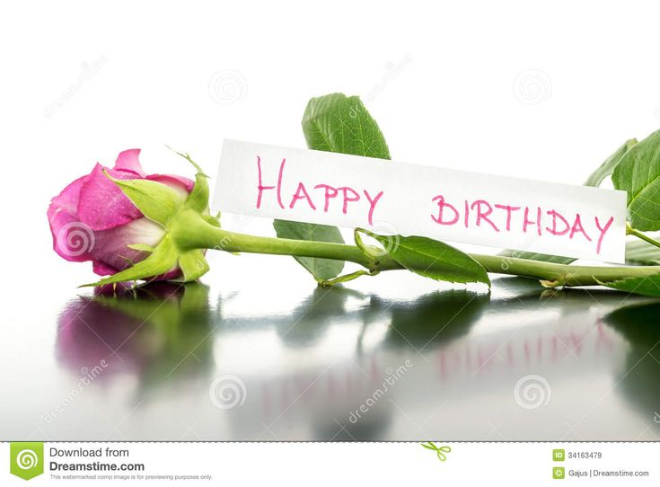 Wszystkiego Najlepszego Z Okazji Urodzin Kwiat Obrazy Royalty Free - Obraz: 34163479