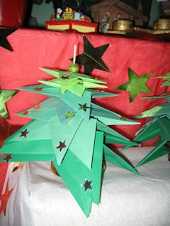 * Kerstboom vouwen!