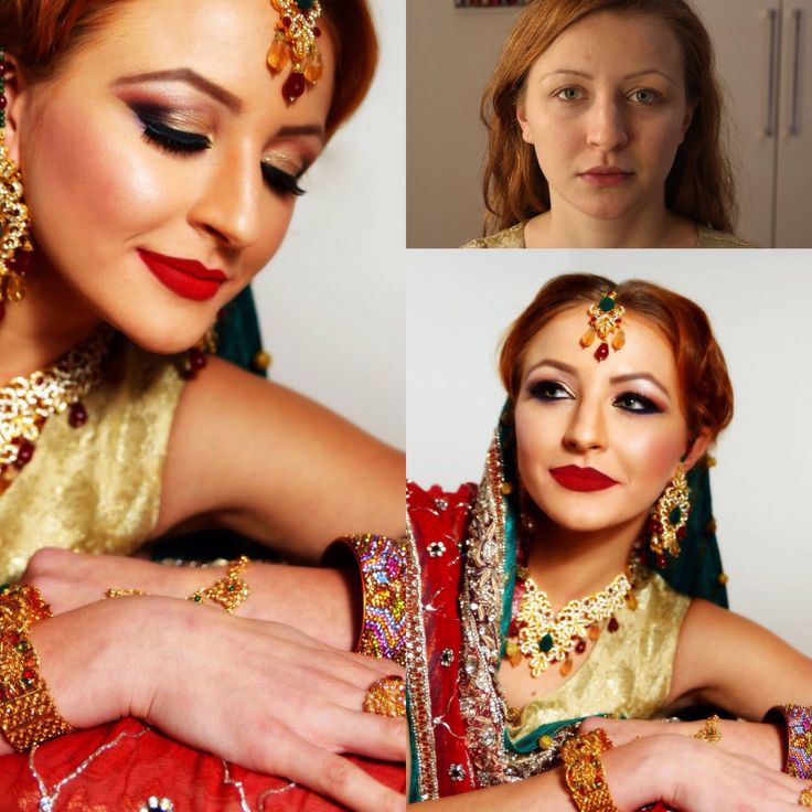 Asian Pakistani Bollywood Bridal make up  Hochzeitsmakeup