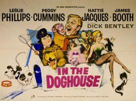 Peggy Cummins and Leslie Phillips in In the Doghouse (1962)