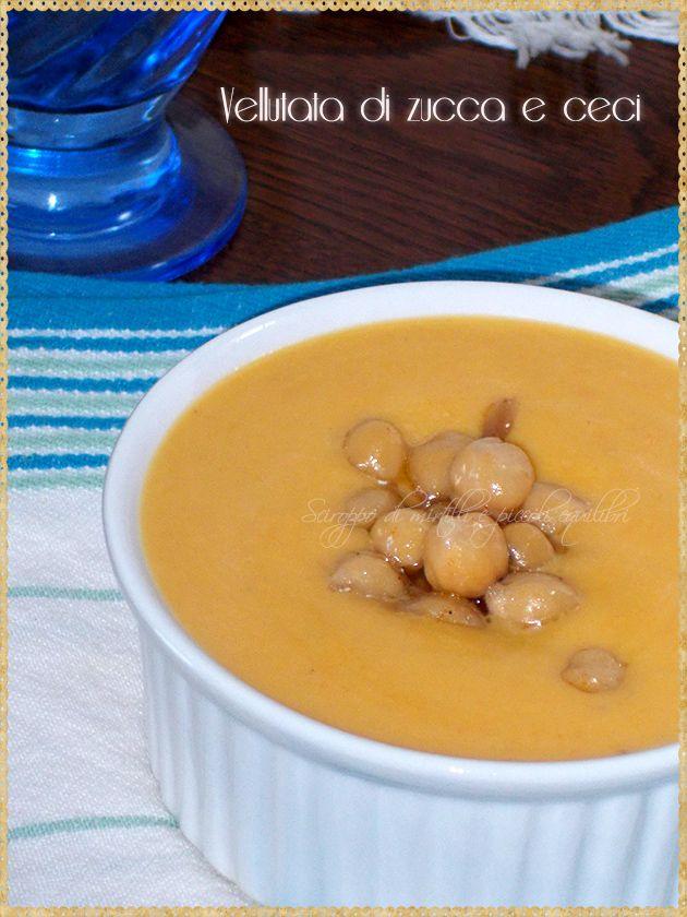 Vellutata di zucca e ceci (Pumpkin soup and chickpeas)