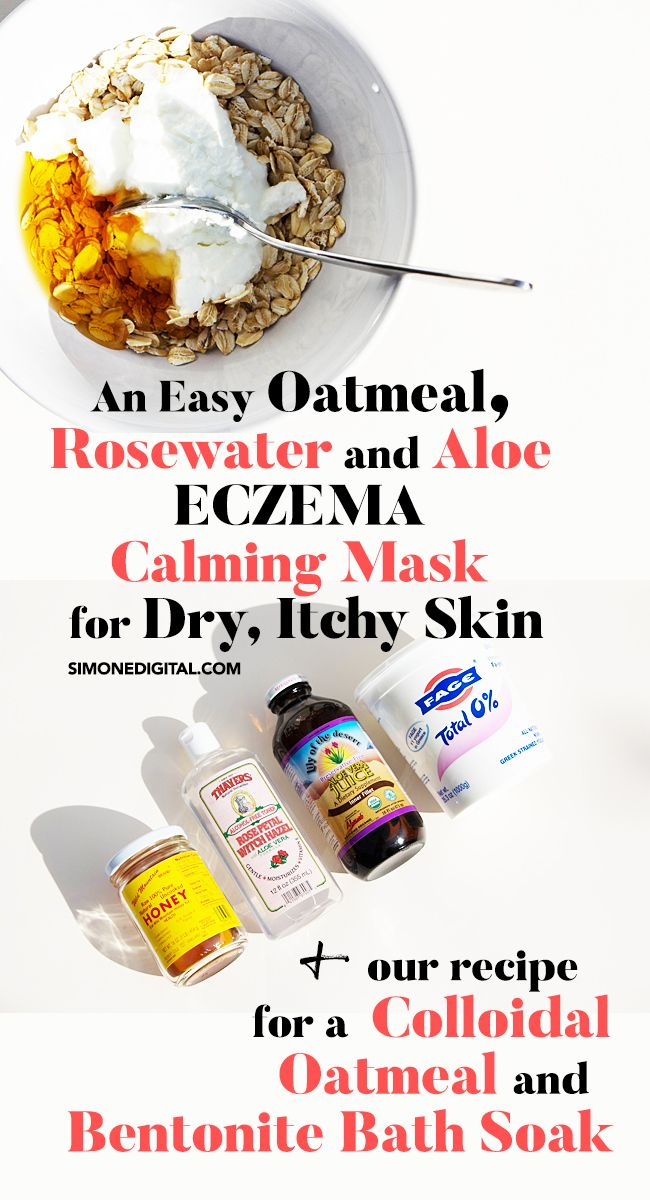 how to make oatmeal paste for itchy skin