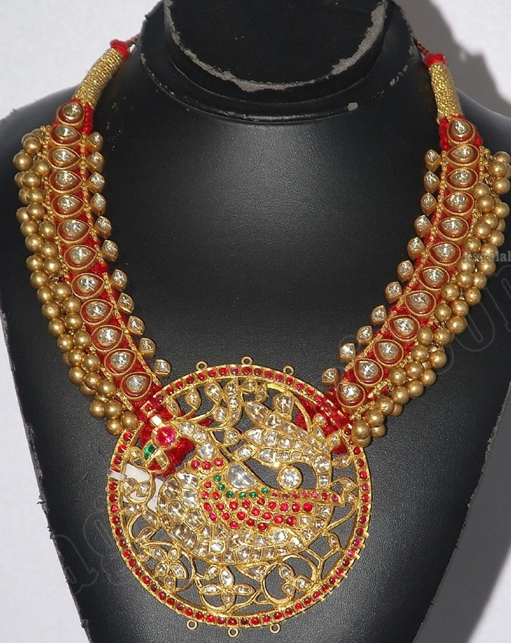 Indian Jewellery and Clothing: Antique finish kundan necklace..
