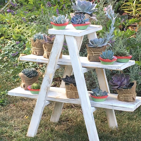 A Frame Rustic Woodcupcake Party Favor Ladder Stand Wedding Decor Ladder Display Rustic Cupcake Stands Rustic Towels