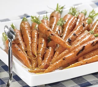 Thrifty Foods - Recipe - Grilled Snap-Top Carrots with Honey and Ginger