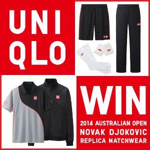 WIN A NOVAK DJOKOVIC'S 2014 AUSTRALIAN OPEN REPLICA MATCHWEAR