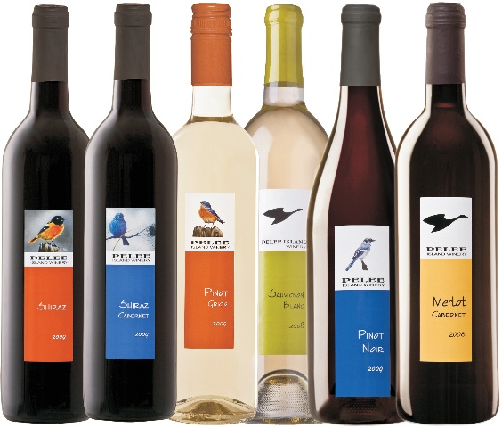 Pelee Island wines- Best I've ever had! Love the Lighthouse brand of red and white.