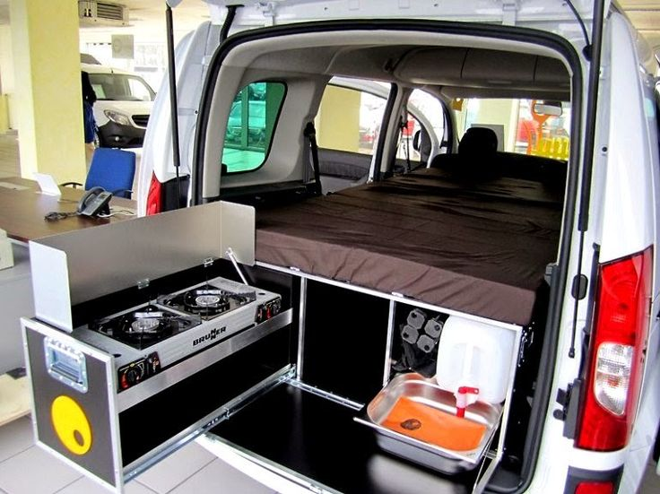 with an addition of a camping box your van or mpv will turn in a comfortable mini camper van conversion in a matter of minutes its a camping gear storage - Camper Design Ideas