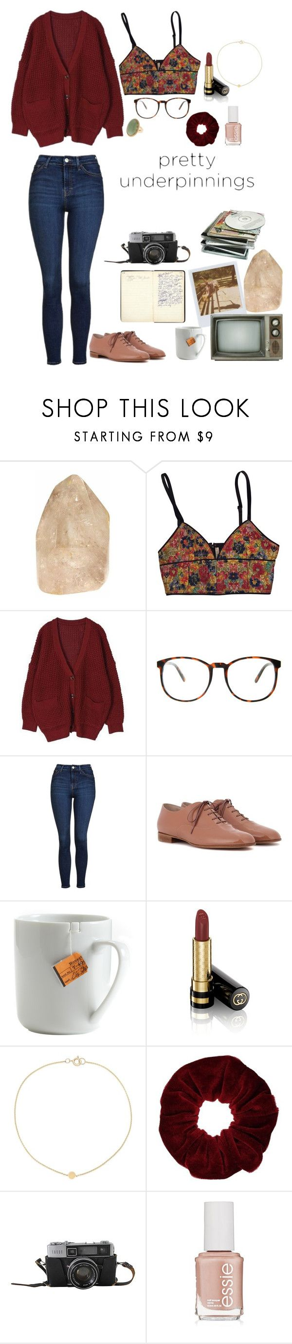 """""""classy vintage"""" by shelbymarie9137 ❤ liked on Polyvore featuring ASOS, Band of Outsiders, Topshop, Gianvito Rossi, le mouton noir & co., Gucci, Miss Selfridge, Essie and vintage"""