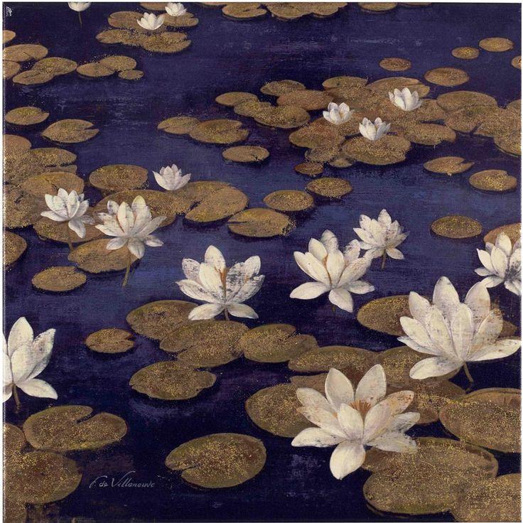 Fabrice de Villeneuve 'Perfect Lake' Limited Edtion Giclee Canvas Art