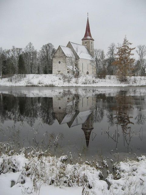 Suure-Jaani Church in Winter, Estonia #COLOURFULESTONIA #VISITESTONIA
