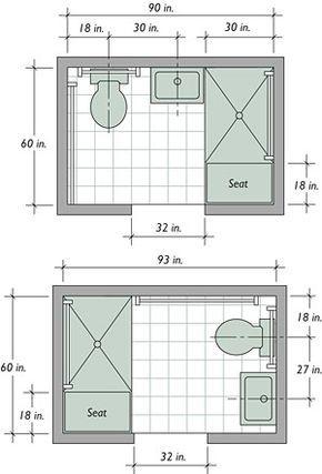 Bathroom layout dimensions