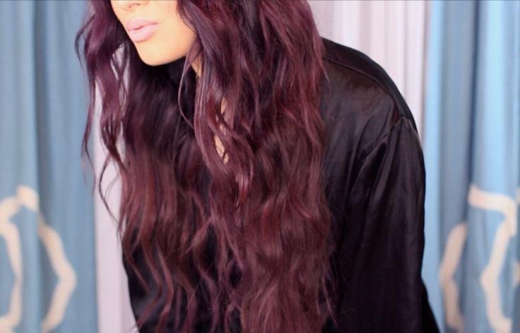 couleur cheveux longs printemps été 2015: cheveux bordeaux
