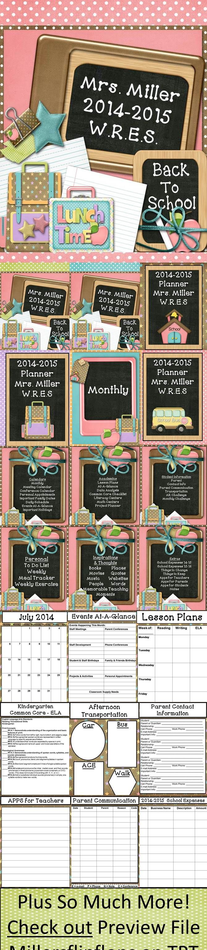 BRAND NEW DESIGN - Ultimate Teacher Planner 2014-2015, Beautiful Pastel School Fun Theme. Everything a Teacher Could Want All in One Place. This 281-page ULTIMATE TEACHER PLANNER is a teacher's dream come true! Through many hours of preparation, I am now offering this great FULLY EDITABLE organizational tool to teachers worldwide. Lots of choices to make this planner truly work for you, all in one place! Too many things to list! Go check it out! Miller's Flip Flops