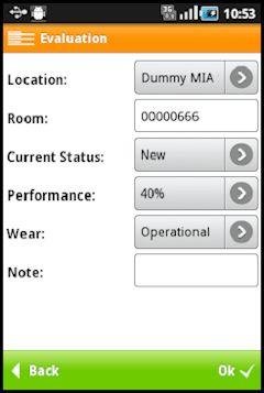 Screenshot de ejemplo con el resumen de un activo desde un dispositivo móvil en SAP FI-AA construido con la mobile enterprise application platform Movilizer.