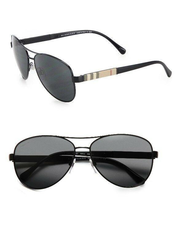 3d47cb2a2c92 (eBay link) Burberry Mens Black Aviator Sunglasses BE3080-100187-59  fashion
