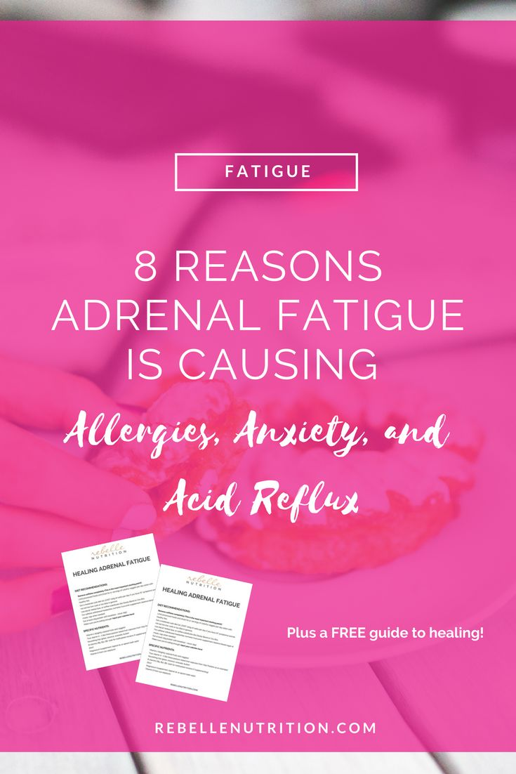 Read this post to learn how your low adrenal function is contributing to a variety of symptoms such as allergies, insomnia, and anxiety. PLUS download the free guide to healing Adrenal Fatigue!