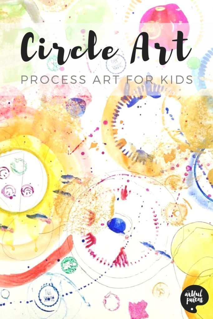 Circle Art For Kids A A Fun Process Art Activity Teaching Art