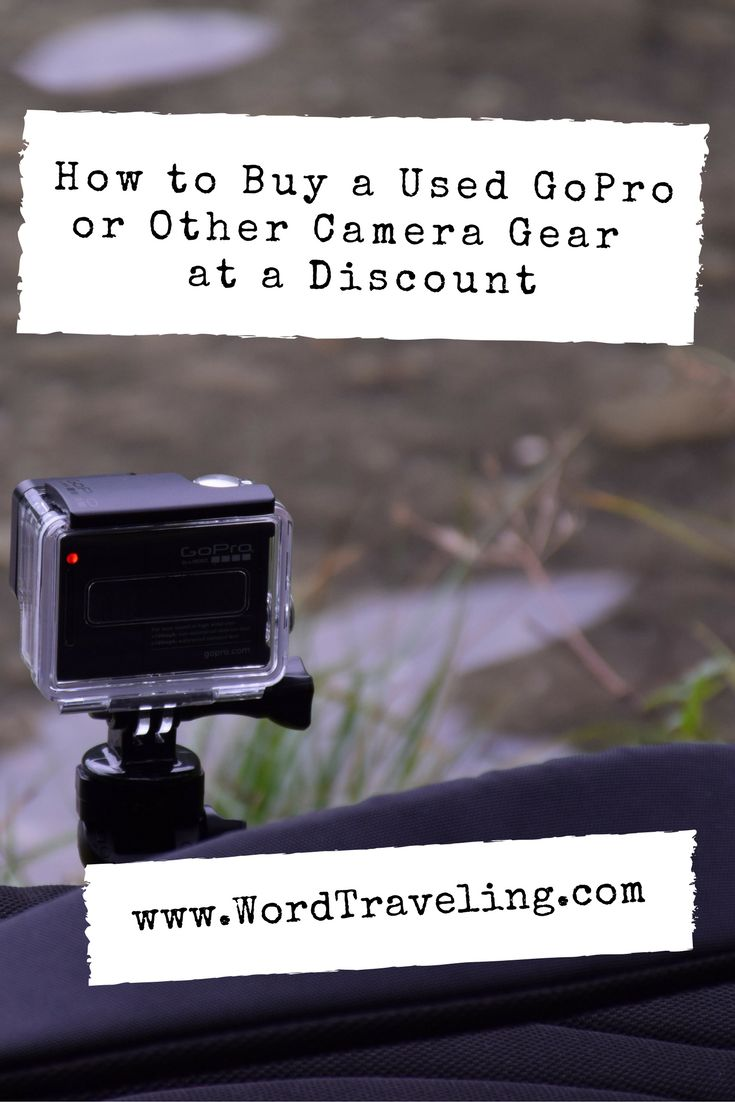 I've discovered a new way to help you get a discount on your used GoPro or other camera gear, or to sell what you've currently got so you can upgrade, too. Click through to WordTraveling.com for the deal. #AD