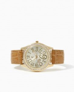 Wonderland Faux Leather Watch